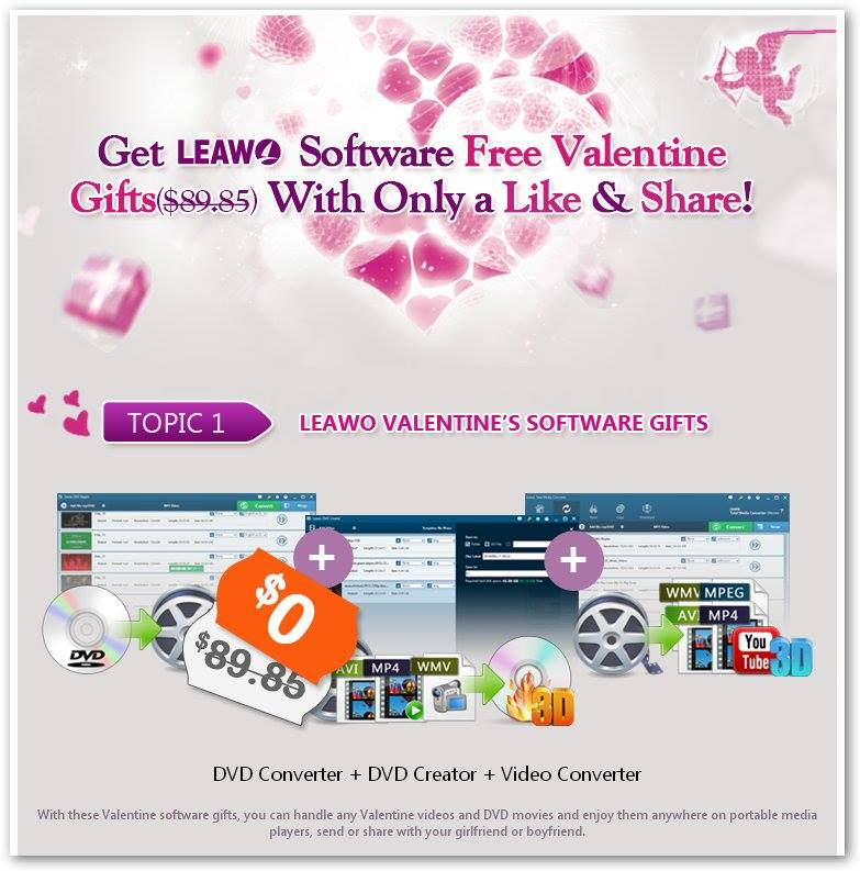 Leawo Software Valentines Gifts